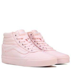 NWT Vans Women's Ward High Top Sneaker Pink Sz 8.5